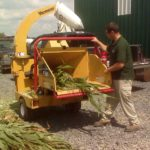 Corn Silage Days - Moisture testing corn silage by chopping a sample and using a Koster.