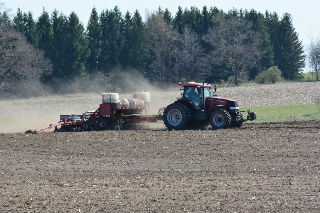 Figure 1. Corn planting in Perth county on May 5th.