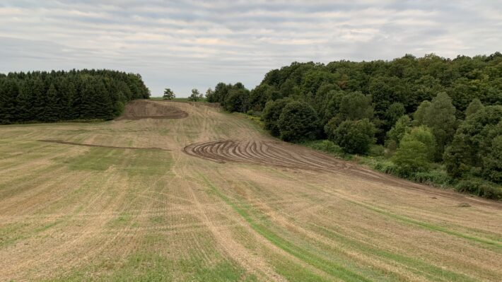 Figure 4. Topsoil moved from a valley to a knoll (photo: Calvin Horst)